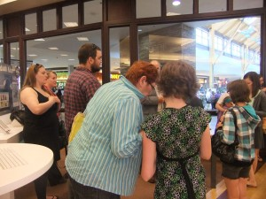 Book signing turns into a melee. Security attends.